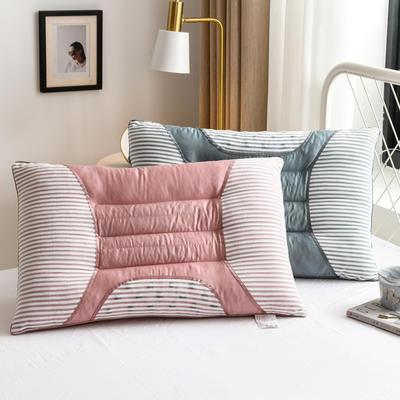 2020新款枕头 长绒棉决明子磁石枕芯-48*74cm/个 绿色