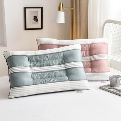 2020新款枕头 长绒棉透气决明子枕芯-48*74cm/个 绿色