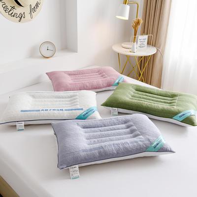 2020新款枕头 针织棉决明子明目枕芯-48*74cm/个 粉色