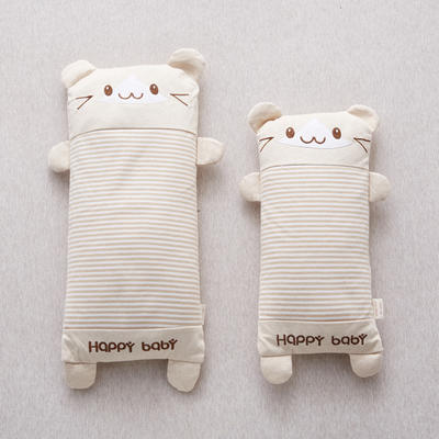2020新款枕头 针织棉卡通全荞麦枕头枕芯 小熊 小号25*40cm /个
