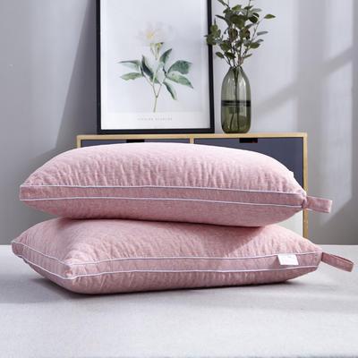 2020新款枕芯 立体绗绣热熔水洗枕头枕芯-48*74cm/个 红色