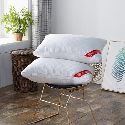 2020新款枕芯 全棉绗绣羽丝绒枕头 -48*74cm/个 羽丝绒枕 低枕