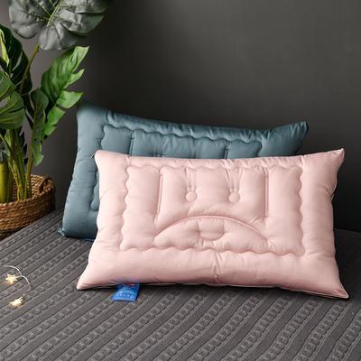 2020新款高端枕头 弹簧安睡助眠枕芯-48*74cm/个 粉色