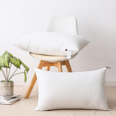 2020新款枕头 全棉酒店羽丝绒枕高中低枕-48*74cm/个 羽丝绒枕-低枕