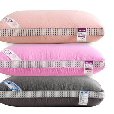2020新款枕头 条纹亲肤热熔棉枕芯-48*74cm/个 条纹大红