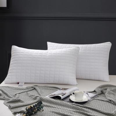 2020新款特价枕芯 磨毛绗绣立体四方格枕头-48*74cm/个 四方格枕头