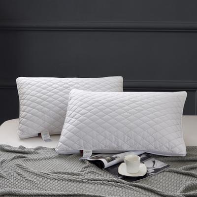 2020新款特价枕芯 磨毛立体绗绣菱形方格枕头-48*74cm/个 菱形方格枕头