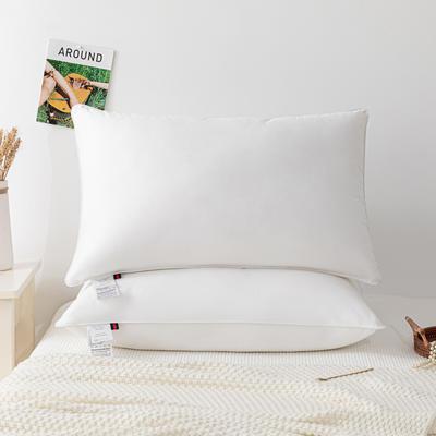 2020新款枕芯 爱丽丝纯白单边酒店高中低枕头-48*74cm/个 低枕
