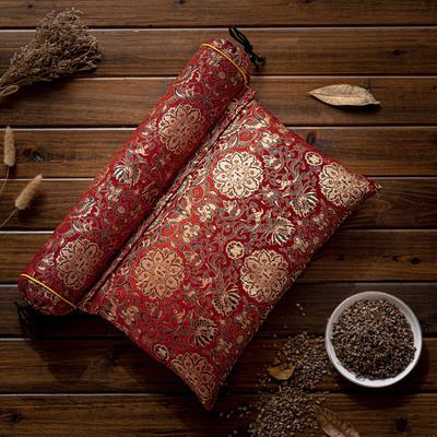 2020新款枕芯 流光溢彩锦缎全荞麦枕头 红色