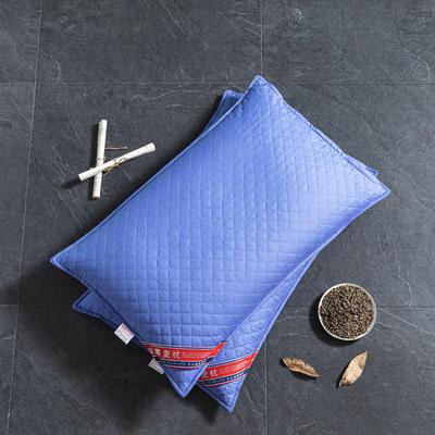 2020新品枕芯 全棉彩色全荞麦枕头-48*74cm/个 宝蓝