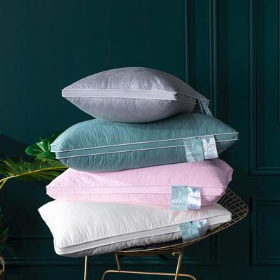 2020新品枕芯 玻尿酸美颜绗缝枕头-48*74cm/个 海洋蓝
