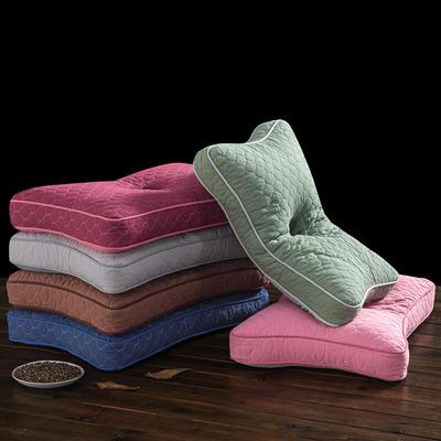 2020新品枕芯 彩色全棉全荞麦护耳枕头-52*32*10cm/个 护耳枕-粉色