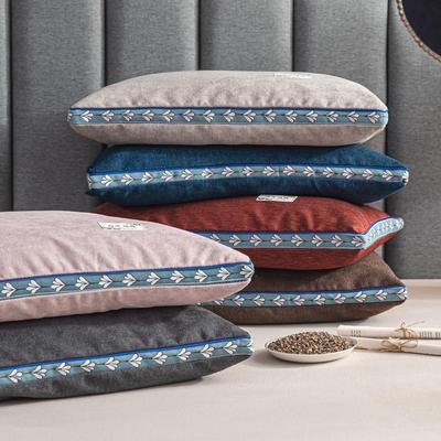 2020新款枕芯 麻绒全荞麦枕头-35*55cm/个 麻绒-粉