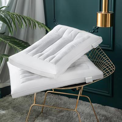 2020新款枕芯 全棉荞麦功能护颈低枕头-48*74cm/个 表层带荞麦