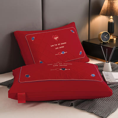 2020新款枕芯 婚庆心心相印枕头-48*74cm/个 心心相印