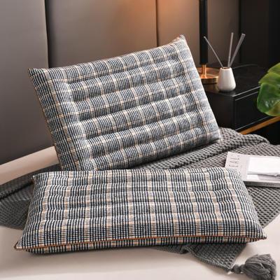 2020新款枕芯 双面羊毛呢低枕头48*74cm/个 单边低枕灰色