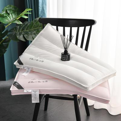 2020新款枕芯 进口德绒柔软低枕头-48*74cm/个 白色