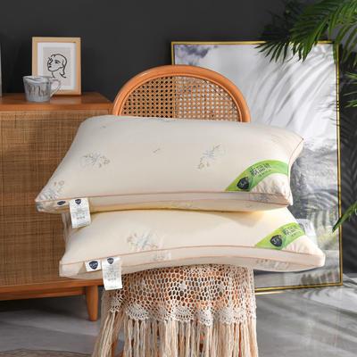 2021板蓝根防感羽丝绒枕枕头枕芯48*74/个 灰色