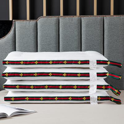 2021新款枕芯 彩色织带蜜蜂低枕枕头枕芯48*74cm/个 蜜蜂低枕白色