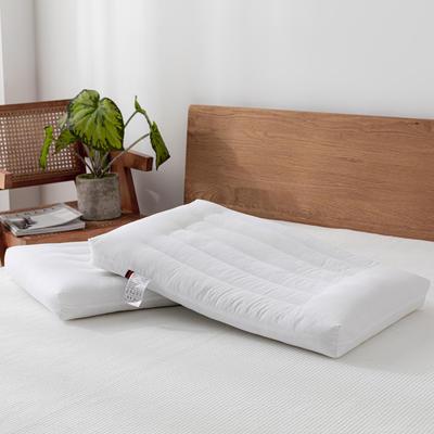2021全棉彩色低枕头枕芯 30*50cm白色/个