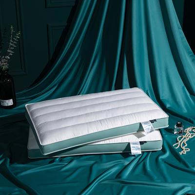 2021新款长绒棉糯敢低枕头枕芯48*74 cm/个 青绿色