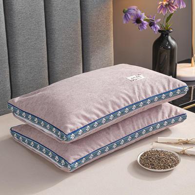 2021新款枕芯 麻绒全荞麦枕头枕芯35*55cm/个 麻绒-粉