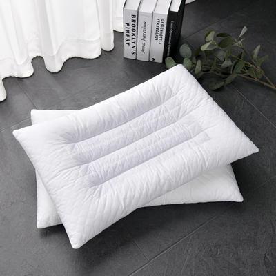 2021新款枕芯 全棉绗绣决明子儿童低枕 25*40cm白色