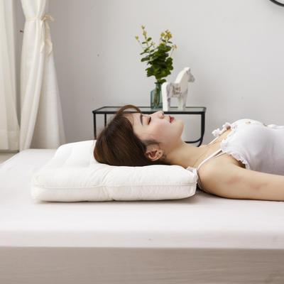 2021新款枕芯 全棉圆角抗菌低枕芯 40*60cm白色