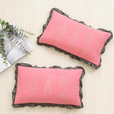 2021全棉海底世界全荞麦枕头枕芯30*50 cm/个 海洋世界-粉色