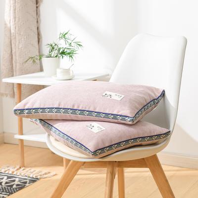 2021新款糖果色麻绒全荞麦枕头枕芯35*55cm/个 麻绒-粉