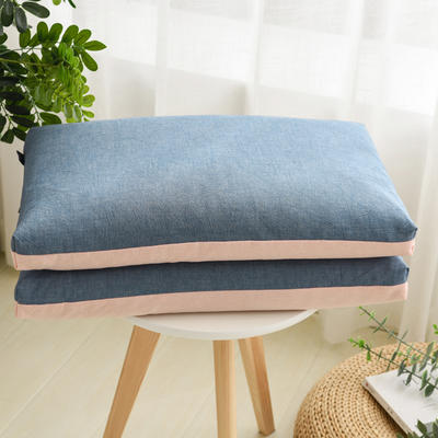 2021新款枕芯 双色水洗棉全荞麦枕头枕芯 54*30cm学生款粉蓝