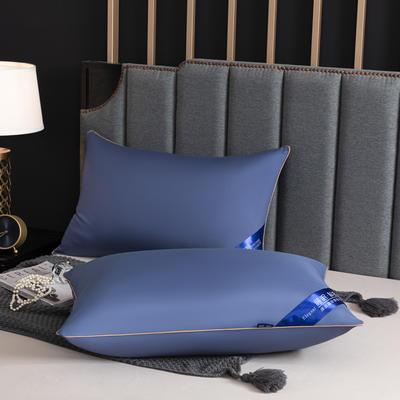 2021新款.彩色丝光枕头枕芯48*74cm/个 宝石蓝羽丝绒