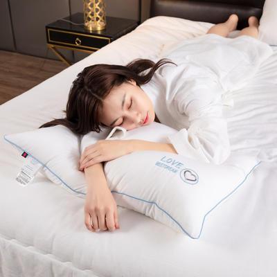 2021新款特价简约款动物绣花枕头枕芯48*74 cm/个 单边爱心