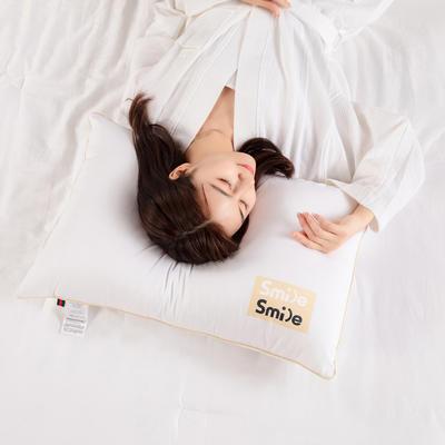2021新款特价磨毛亲肤棉贴画枕头枕芯 48*74cm白色 单边款徽章