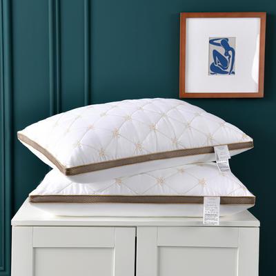 2021新款磨毛蜜蜂刺绣枕头枕芯48*74cm/个 白色