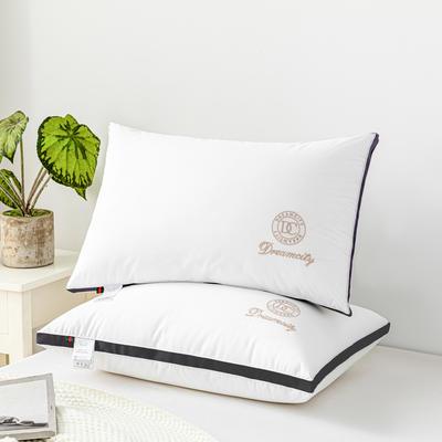 2021新款DC立体羽丝绒枕头枕芯48*74/个 高级黑