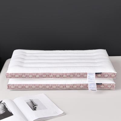 2021新款枕芯 中国风纤柔低度枕头枕芯48*74 cm/个 粉色