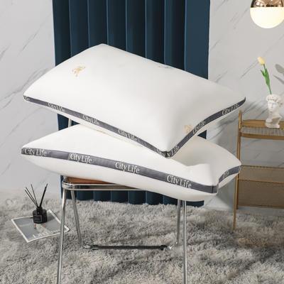 2021新款都市生活高端羽丝绒枕头枕芯48*74 /个 都是生活-白