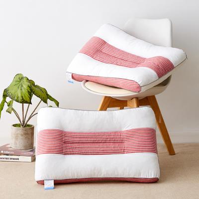 2021新款全棉水洗棉决明子定型枕枕头枕芯48*74 cm/个 红白条
