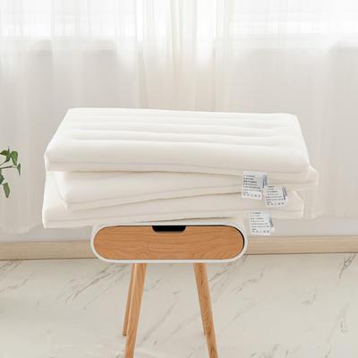 2021新款全棉圆角酒店低枕头枕芯 40*60cm白色/个