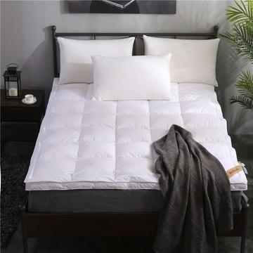 晋瑞羽绒床垫希尔顿酒店双层立体1.8m床褥子双人加厚90白鹅绒垫被