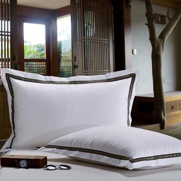 晋瑞羽绒家纺韩式羽绒枕芯正品喜来登星级酒店羽绒枕芯100%白鹅绒枕头单人全棉成人特价
