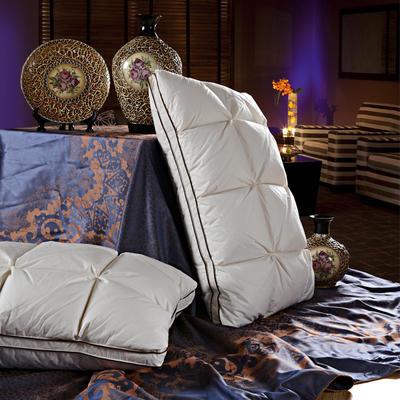 晋瑞羽绒家纺法式面包枕芯正品喜来登星级酒店羽绒枕芯100%白鹅绒枕头单人全棉成人特价 48*74