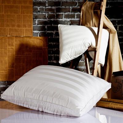 晋瑞羽绒家纺冰岛鹅绒枕芯正品喜来登星级酒店羽绒枕芯100%白鹅绒枕头单人真丝成人特价 48*74