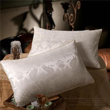 晋瑞羽绒家纺希尔雅顿羽绒枕正品喜来登星级酒店羽绒枕芯100%白鹅绒枕头单人天丝提花成人特价