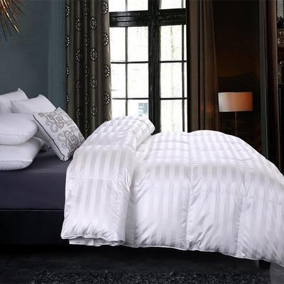 冰岛五星酒店款羽绒被95白鹅绒被子双人单人被芯纯加厚保暖冬被 160cmX210水洗朵朵白鸭绒 冰岛鹅绒被