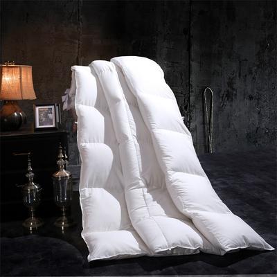 馨雅羽绒被95%朵朵白鹅绒羽绒被双人单人被芯纯棉加厚保暖冬被 200cmx230cm水洗白鸭绒 白色
