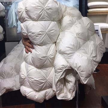 玛奇朵国标水洗95%朵朵白鹅绒羽绒被95白鹅绒被鸭绒被冬被被芯加厚 200X230cm6斤 白色