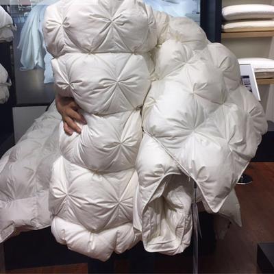 羽绒被玛奇朵品牌款国标水洗95%朵朵白鹅绒白鹅绒被鸭绒被冬被被芯加厚 160X210CM国标95%大朵白鹅绒 白色