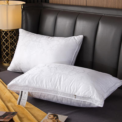 风尚可拆洗羽绒枕正品喜来登星级酒店羽绒枕芯100%白鹅绒枕头单人全棉成人特价 低枕松软型48 *74cm/只